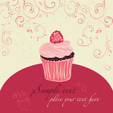 Raspberry cake. Template  design for card Royalty Free Stock Photography