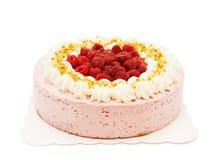 Raspberry cake on white. Creamy raspberry cake isolated on white Royalty Free Stock Photo