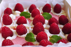 Raspberry cakes Royalty Free Stock Image