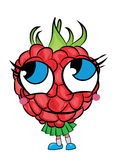 Raspberry cartoon character Stock Photo