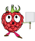 Raspberry cartoon character Royalty Free Stock Photography