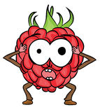 Raspberry cartoon character Stock Photos