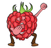 Raspberry cartoon character Stock Photography