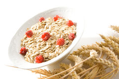 Raspberry cereal Royalty Free Stock Images