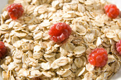 Raspberry cereal Stock Image