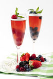 Raspberry champagne gelee Stock Photo