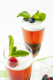 Raspberry champagne gelee Stock Photography