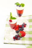 Raspberry champagne gelee Royalty Free Stock Photography