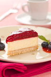 Raspberry cheese cake Stock Image