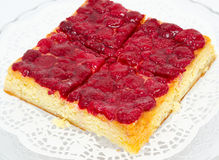 Raspberry cheese cake Stock Images