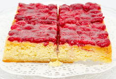 Raspberry cheese cake Royalty Free Stock Photos