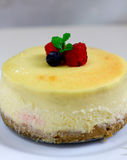 Raspberry Cheese Cake Stock Photography