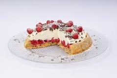Raspberry cheese torte Stock Photography