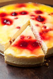 Raspberry Cheesecake Stock Photo