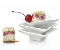 Raspberry Cheesecake Stock Photography