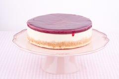 Raspberry cheesecake Stock Photos