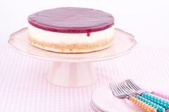 Raspberry cheesecake Royalty Free Stock Image