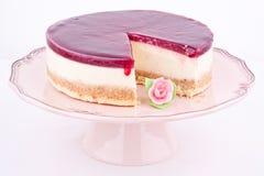Raspberry cheesecake royalty free stock photo