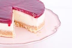 Raspberry cheesecake Stock Image