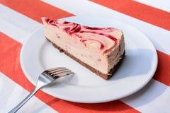 Raspberry cheesecake Royalty Free Stock Photos