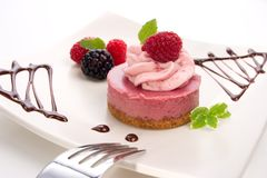 Raspberry cheesecake Stock Image