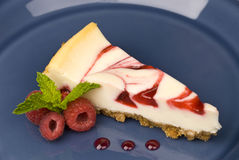 Raspberry cheesecake Stock Images