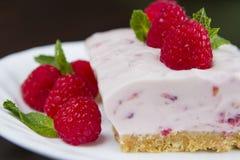 Raspberry cheesecake Stock Photography