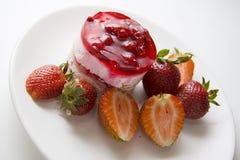 Raspberry cheesecake Royalty Free Stock Photography