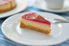 Raspberry cheesecake Royalty Free Stock Photography