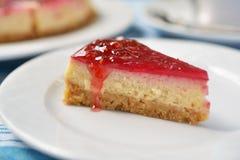 Raspberry cheesecake Stock Images