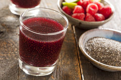 Raspberry and Chia Seed Beverage royalty free stock photography