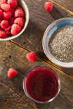 Raspberry and Chia Seed Beverage Stock Photography
