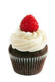 Raspberry chocolate cupcake Royalty Free Stock Images