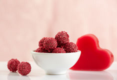 Raspberry chocolate truffles Royalty Free Stock Photography