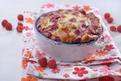 Raspberry clafoutis Royalty Free Stock Images