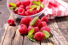 Raspberry. Close up on fresh raspberry stock image