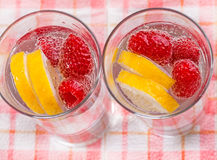 Raspberry cocktail Stock Photos