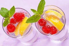 Raspberry cocktail Stock Images