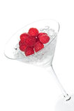 Raspberry cocktail in a martini glass Stock Image