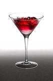 Raspberry cocktail in a martini glass Stock Photography