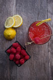 Raspberry Cocktail. On the patio Stock Photography