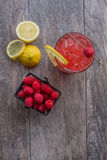 Raspberry Cocktail. On the patio Stock Photo