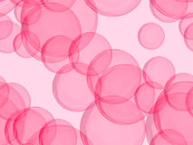 Raspberry Colored Bubbles Stock Image