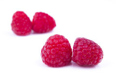 Raspberry composition. With white background Royalty Free Stock Images