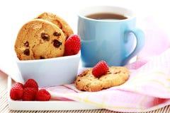 Raspberry cookies Stock Photo