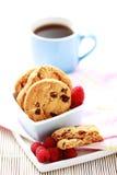 Raspberry cookies. Close-ups of taspberry cookies - sweet food Stock Image
