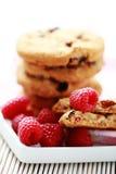 Raspberry cookies. Close-ups of taspberry cookies - sweet food Stock Photos