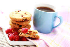 Raspberry cookies Royalty Free Stock Photo