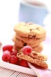 Raspberry cookies. Close-ups of taspberry cookies - sweet food Stock Photography