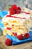 Raspberry and cream cake. Royalty Free Stock Photography